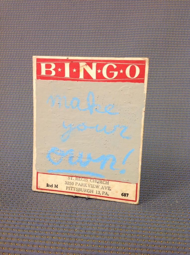 Vintage Bingo Card Chalkboard