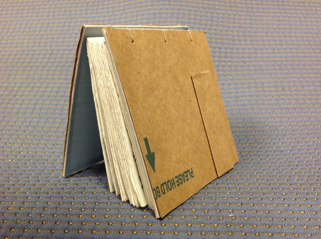 This book/notebook was made with cardboard and design samples