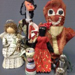 Fabric samples, fabric scraps, magazine pages, metal and even sponge brushes can become dolls and puppets!