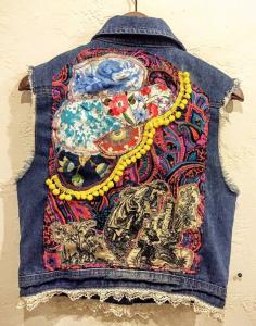 denim jacket assemblage