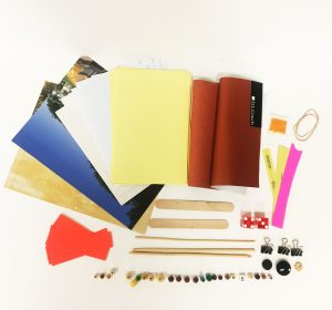 supplies in the book making kit