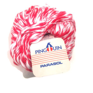 red and white yarn