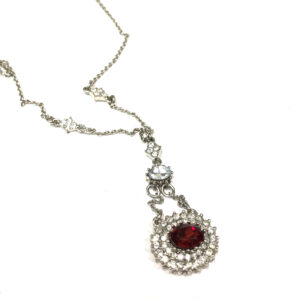 rhinstone necklace