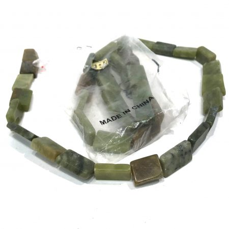 green rectangle beads